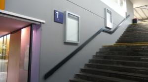 Glasvitine Treppenaufgang